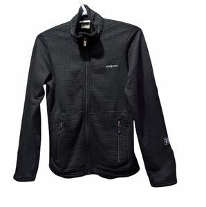 PATAGONIA Black R1 Full Zip polartec Activewear shirt Size Small